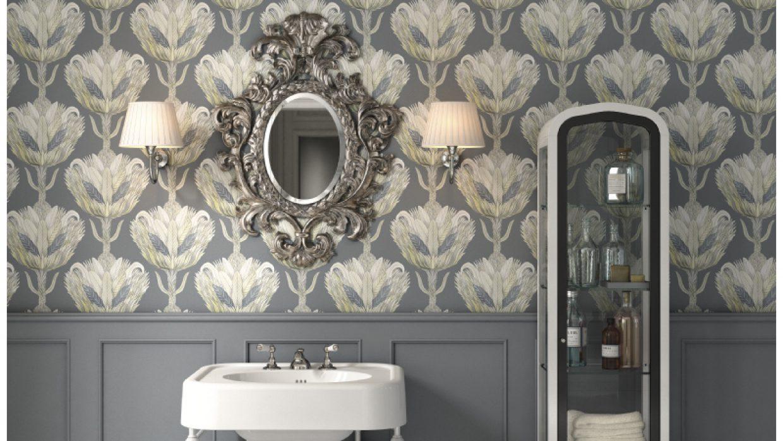 Triunfo del papel pintado en el baño